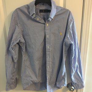 Ralph Lauren Polo Striped Polo Button Down Shirt.